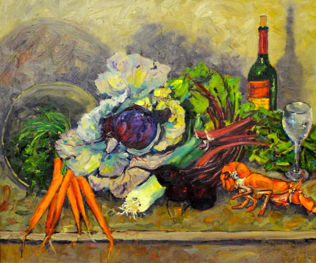 Vegetable Lobster & Red Wine