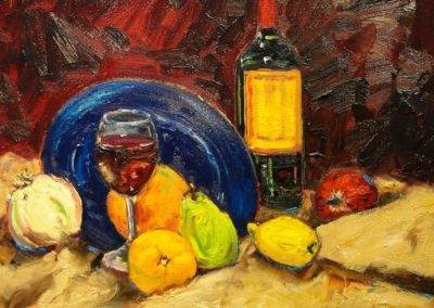 Still Life with Wine, Fruit and Vegetables