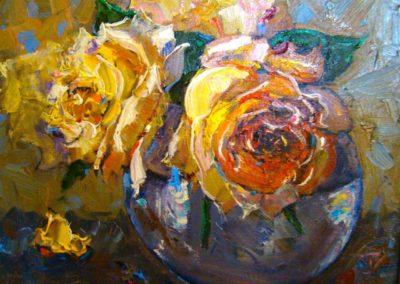 Yellow Roses Still Life